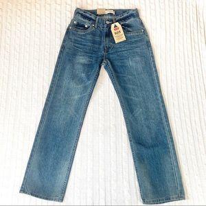 NWT Levi's 505 straight jeans boys 12 slim